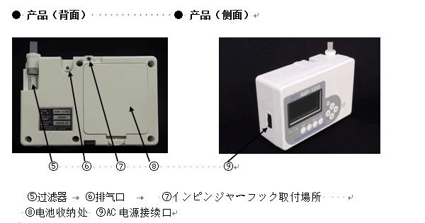 光明理化学北川式ASP-1200空气取样器背面
